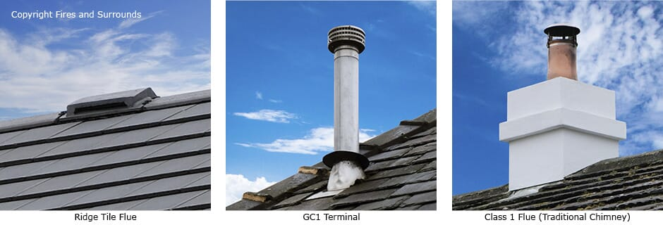 Chimney Flue Types, Class 1 chimney, Class 2 chimney, traditional chimney